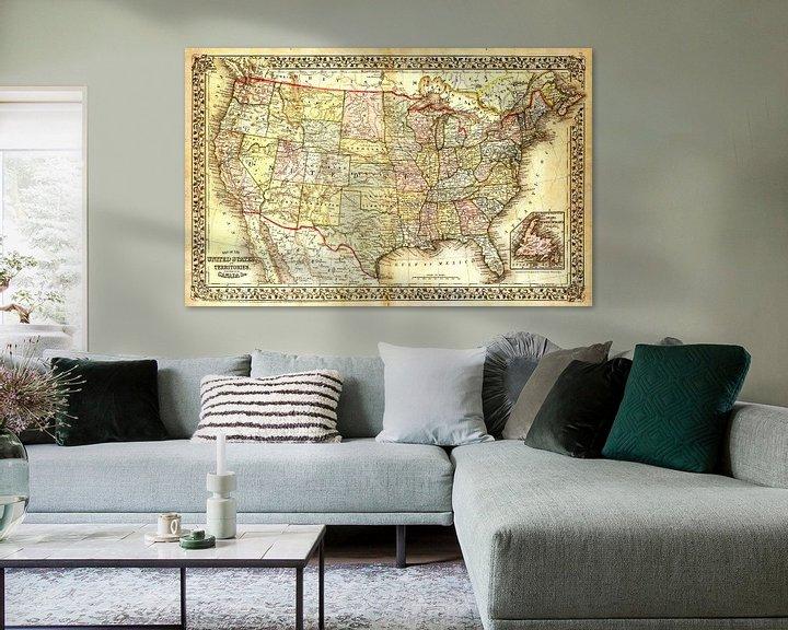 Sfeerimpressie: Antieke Wereldkaart van World Maps