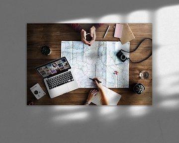 Road Trip Meeting van World Maps