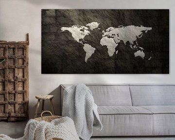 Textuur Wereldkaart van World Maps