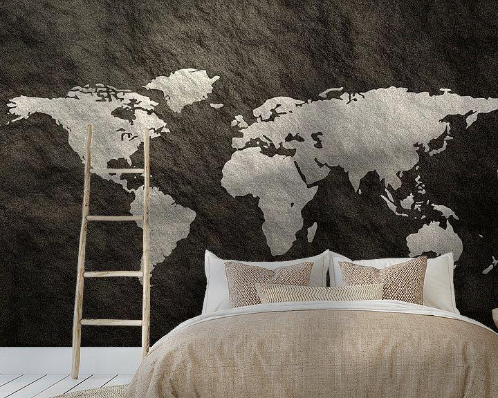 Impression: Texture Carte du Monde sur World Maps