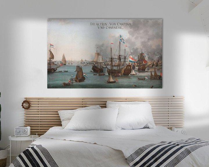 Impression: La bataille de Chatham, Willem van Der Stoop