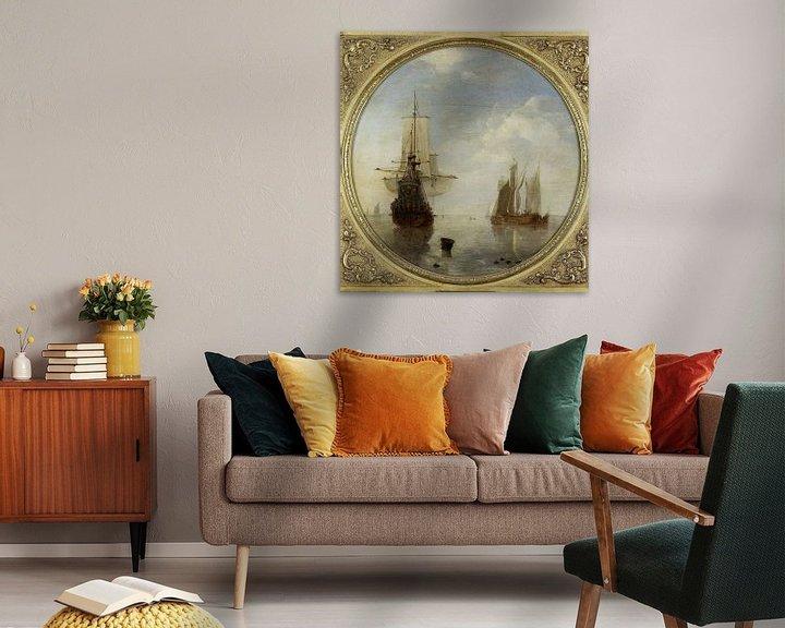 Sfeerimpressie: Schepen voor anker, Willem van de Velde (II)