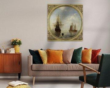 Schiffe vor Anker - Willem van de Velde