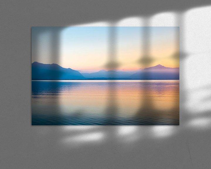 Beispiel: Sonnenuntergang Alpen Chiemsee von Holger Debek