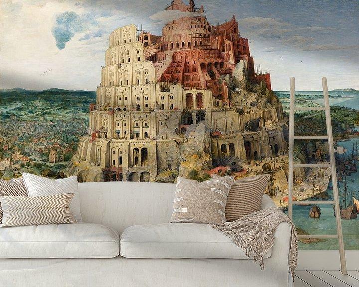 Beispiel fototapete: Der Turm von Babel - Pieter Bruegel