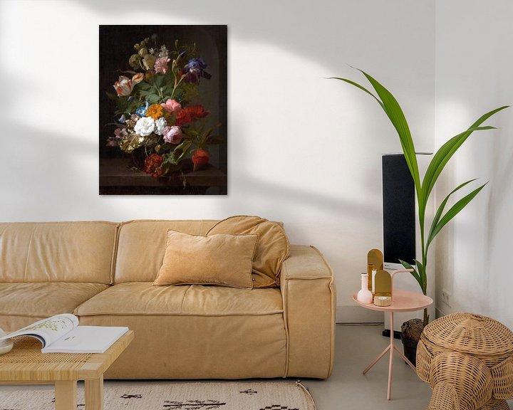 Impression: Vase avec des fleurs, Rachel Ruysch (vue à vtwonen)