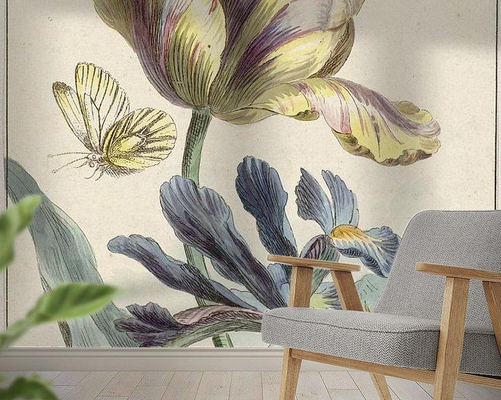 Sfeerimpressie behang: Tulp en iris, Willem van Leen