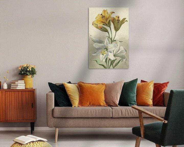 Sfeerimpressie: Gele en witte lelies, Willem van Leen