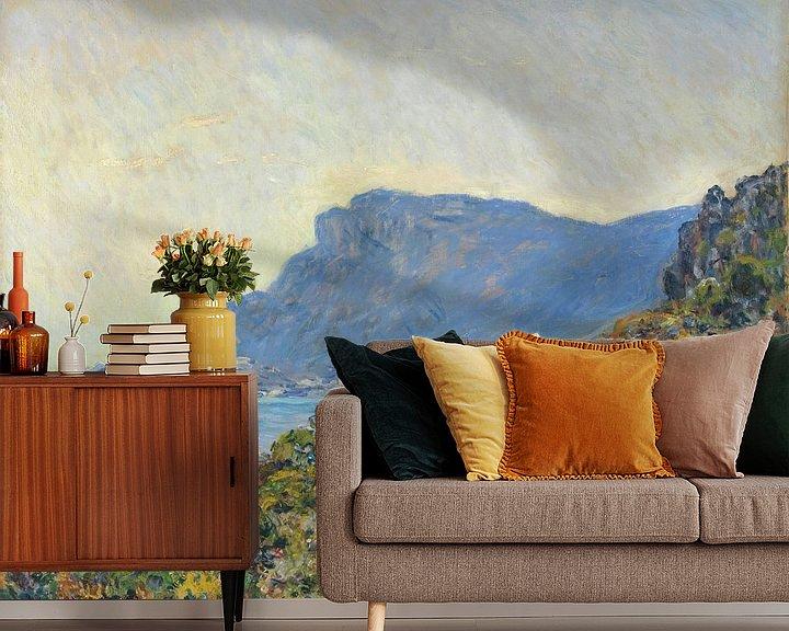 Sfeerimpressie behang: La Corniche bij Monaco, Claude Monet