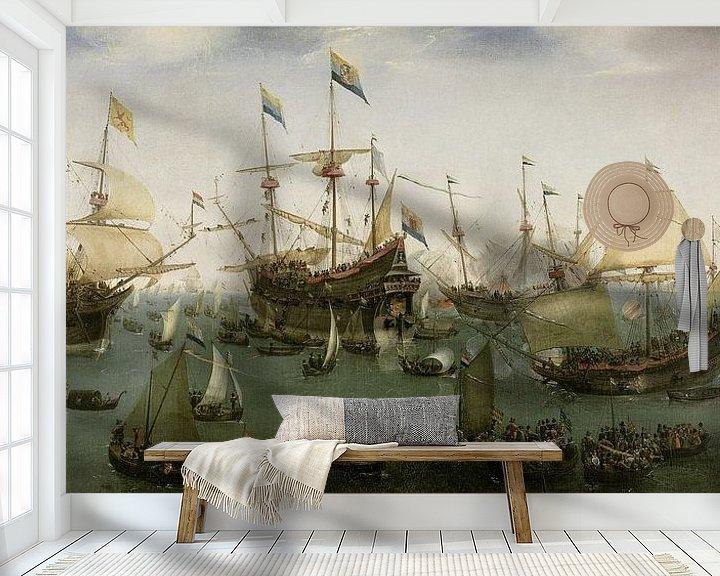 Impression: De terugkomst in Amsterdam van de tweede expeditie naar Oost-Indië, Hendrik Cornelisz. Vroom