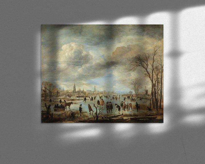 Sfeerimpressie: Riviergezicht bij winter, Aert van der Neer