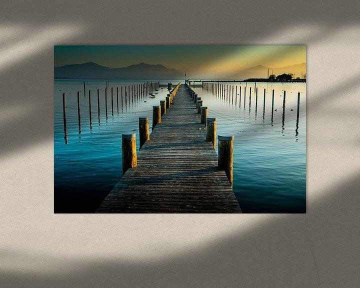 Beispiel: Steg im Sonnenuntergang am Chiemsee von Holger Debek