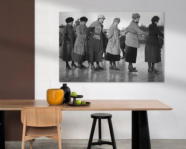 Sfeerimpressie: Schaatsen 1918 van Timeview Vintage Images
