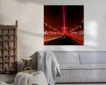 Parijs Arc de Triomph 1965 van Timeview Vintage Images