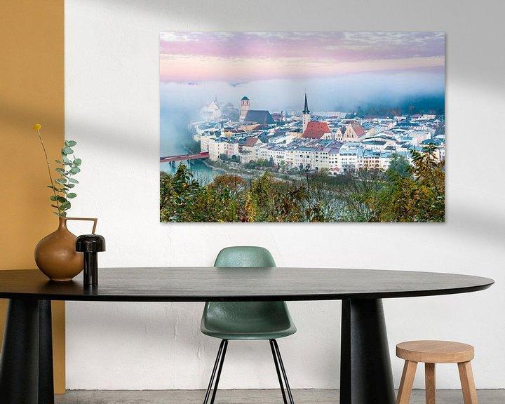 Sfeerimpressie: Wasserburg am Morgen im Nebel van Holger Debek