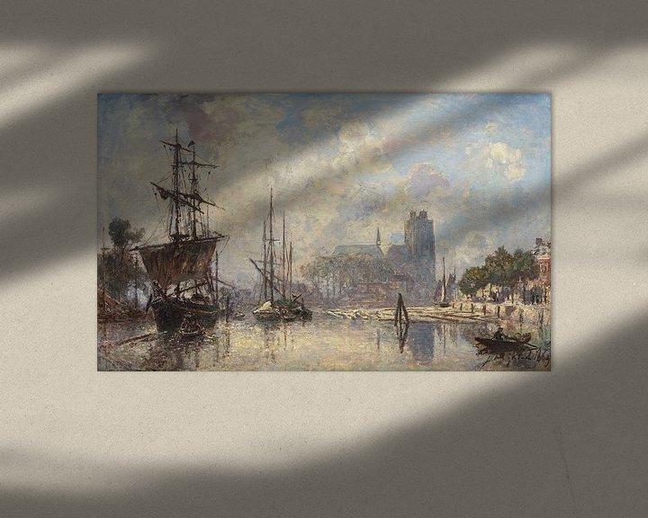 Sfeerimpressie: Het gezicht op Dordrecht, Johan Barthold Jongkind