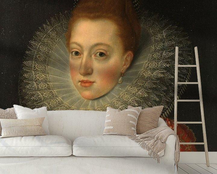 Sfeerimpressie behang: Margaretha van Oostenrijk, Frans II Pourbus