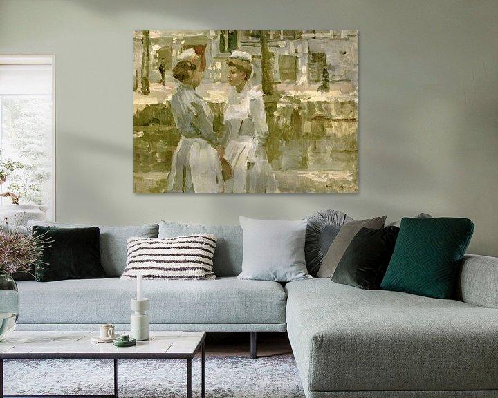 Beispiel: Dienstmädchen auf der Leidsegracht, Isaac Israëls