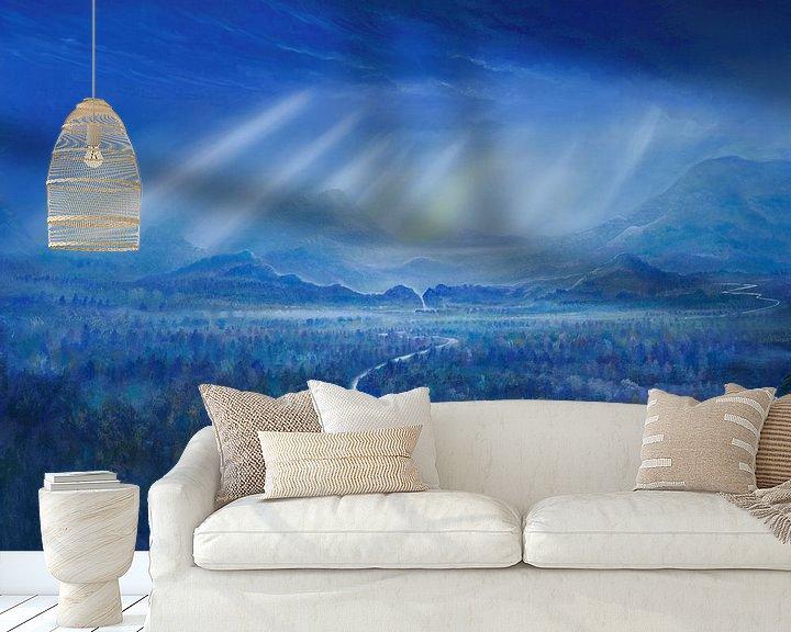 Beispiel fototapete: Blaue Wälder von Art Demo