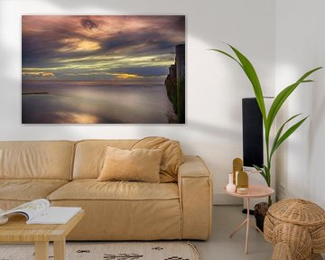 Zonsondergang Opaalkust Wissant Frankrijk van Watze D. de Haan