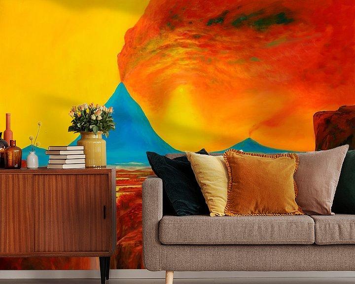 Impression: Blauer-Vulkan sur Art Demo