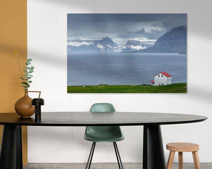 Sfeerimpressie: Uitzicht op de westfjorden van IJsland van Menno Schaefer