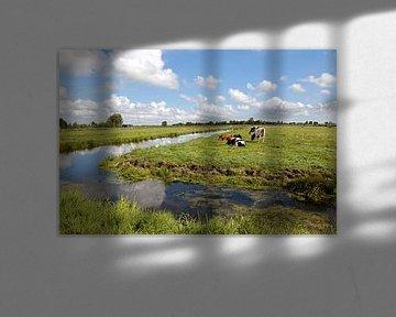 Nederlands landschap van W J Kok