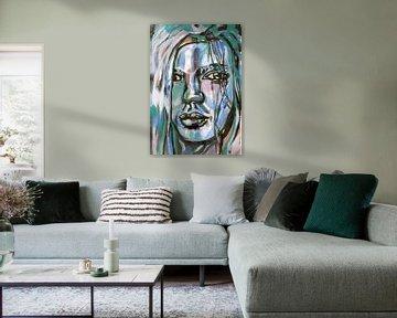 Schwarzer Pastell von ART Eva Maria