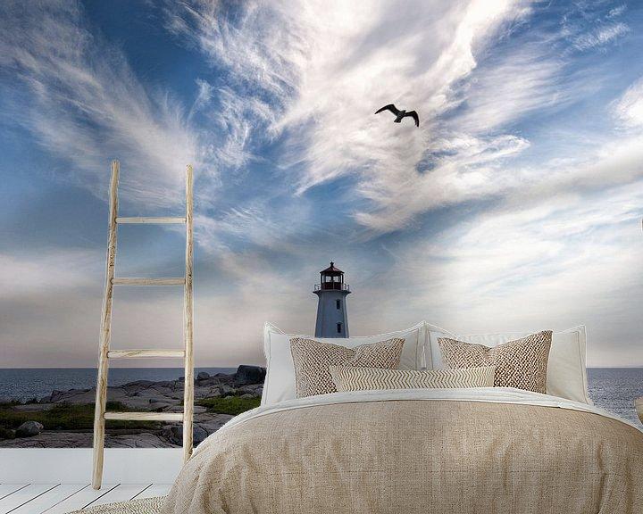 Sfeerimpressie behang: Peggy's Cove ll van Renald Bourque