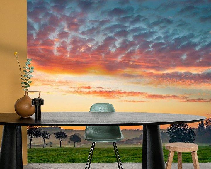 Beispiel fototapete: Sonnenaufgang bei Eiselfing von Holger Debek
