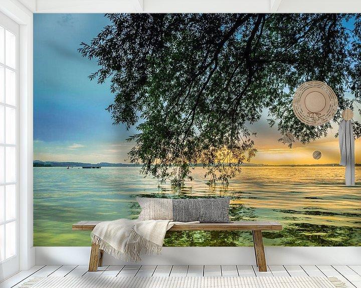 Beispiel fototapete: Sonnenuntergang am Chiemsee von Holger Debek