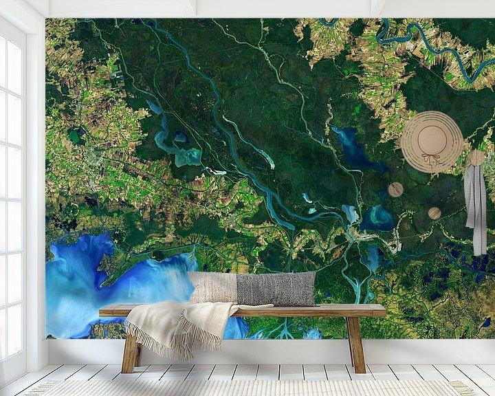 Sfeerimpressie behang: Mississippi vanuit de ruimte van Moondancer .