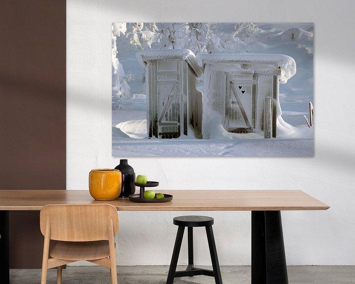 Sfeerimpressie: Bevroren openbaar toilet van Barbara Koppe