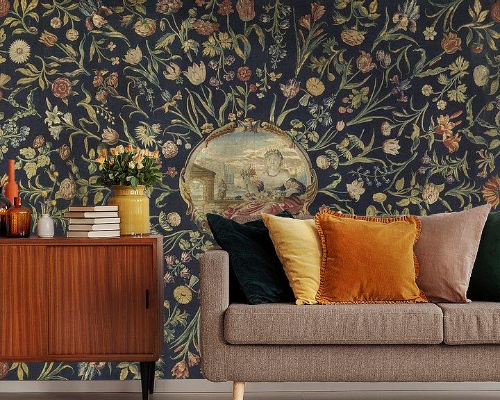 Sfeerimpressie behang: Tafelkleed, Maximiliaan van der Gucht