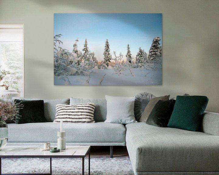 Sfeerimpressie: Winter wonderland in Zweden van Barbara Koppe