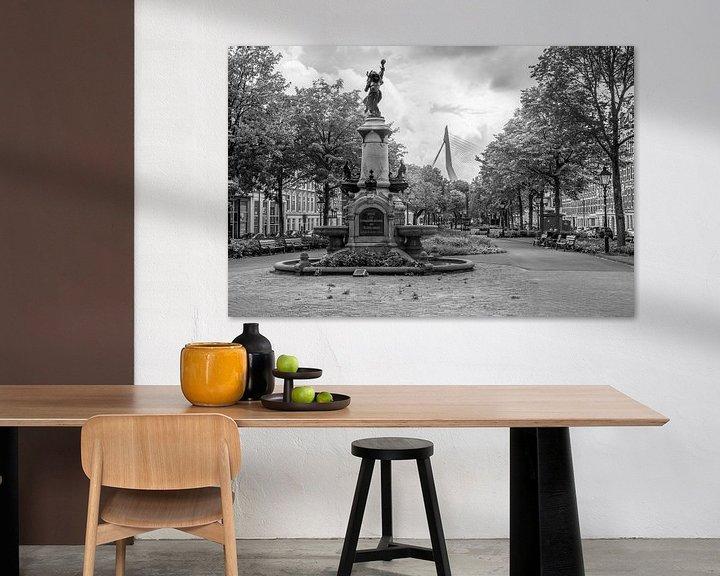 Sfeerimpressie: De Wilhelminafontein op het Noordereiland in Rotterdam van MS Fotografie   Marc van der Stelt
