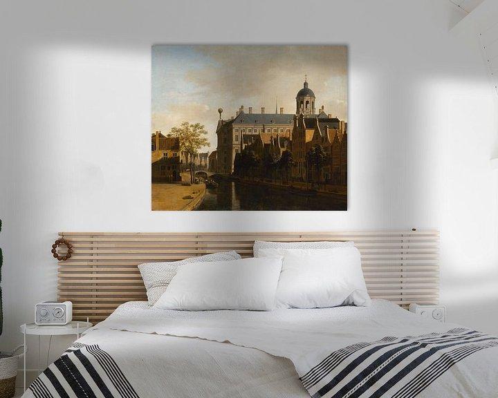 Beispiel: Blick auf das Rathaus von Amsterdam, Gerrit Berckheyde