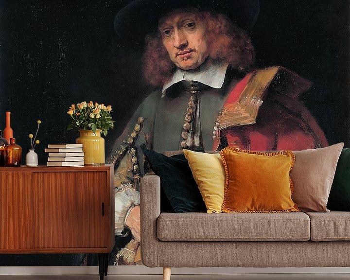 Sfeerimpressie behang: Portret van Jan Six, Rembrandt