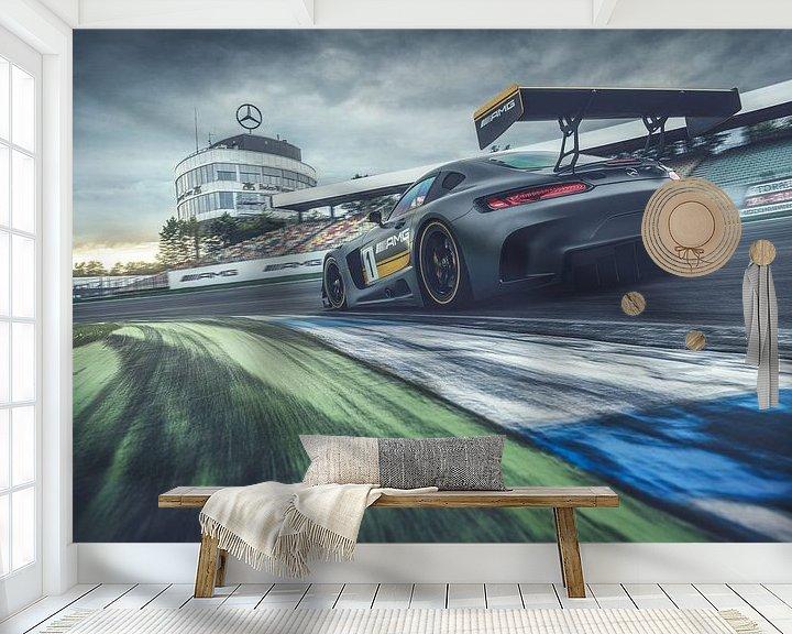 Sfeerimpressie behang: Mercedes-AMG GT3 van Gijs Spierings