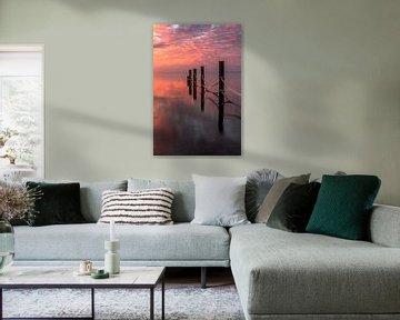 zonsopkomst aan de waddenzee van Frans Bruijn