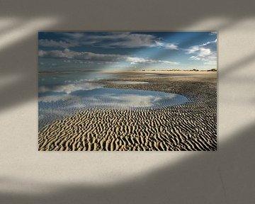 Uitzicht over de kust van Goedereede in Nederland van Irene Lommers