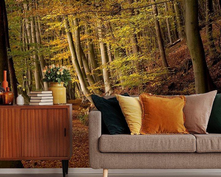 Sfeerimpressie behang: Herfst op de Sint Jansberg van Paul Wendels