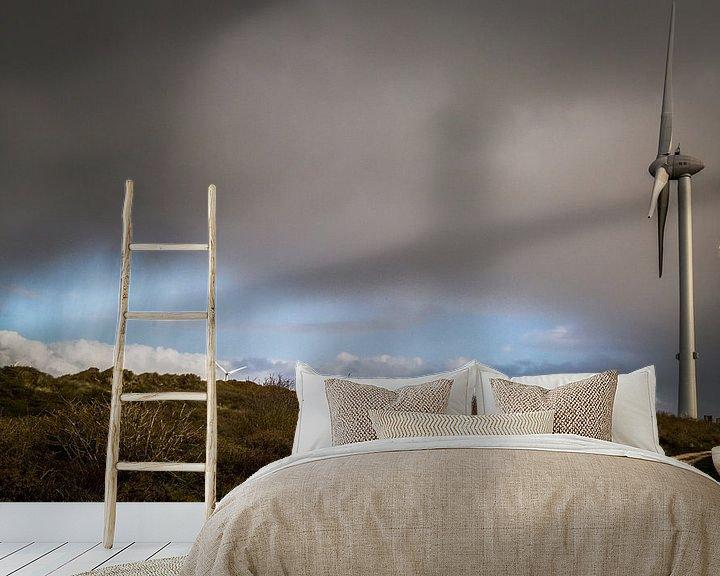 Sfeerimpressie behang: regen van wim harwig