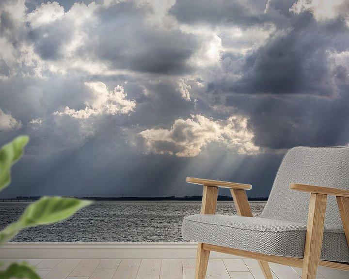 Sfeerimpressie behang: dreigende wolken van wim harwig
