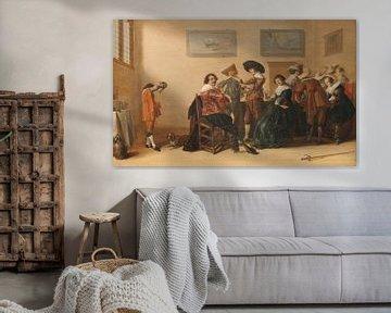 Fröhliche Gesellschaft in einer Kammer, Anthonie Palamedesz.