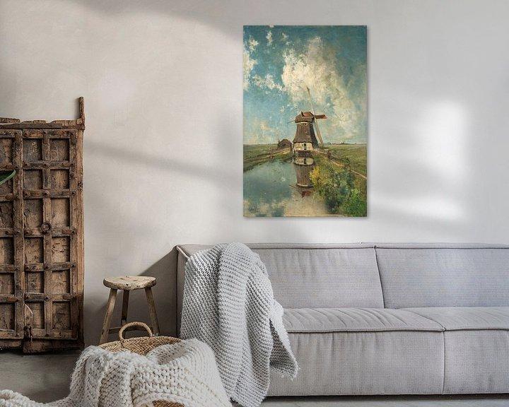 Sfeerimpressie: Een molen aan een poldervaart, Paul Joseph Constantin Gabriël