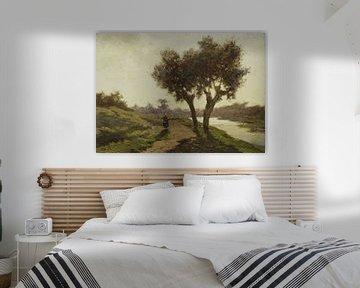 Landschaft mit zwei Bäumen, Paul Joseph Constantin Gabriël