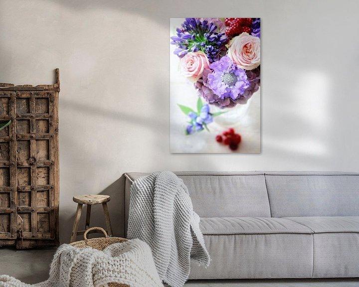 Sfeerimpressie: bossie blommen  van Marianne Bras