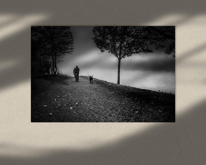 Beispiel: Schwarz Weiss - Nebel am Inn von Holger Debek