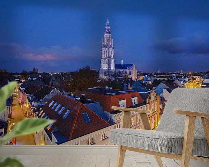 Sfeerimpressie behang: Grote Kerk Breda Zilver en Goud van JPWFoto